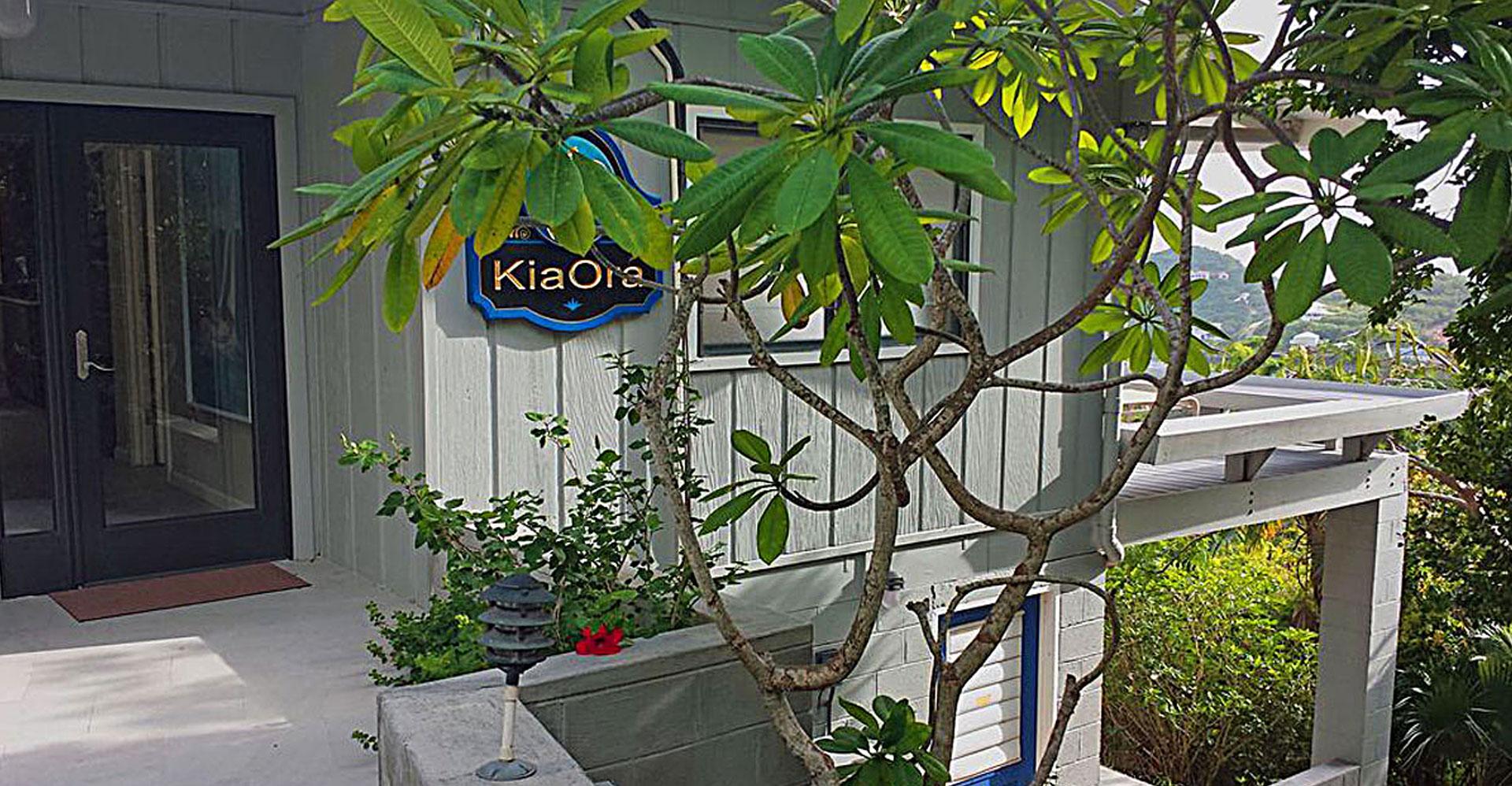 Kia Ora Villa Entrance